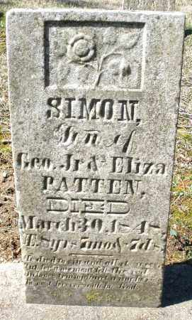 PATTEN, SIMON - Montgomery County, Ohio | SIMON PATTEN - Ohio Gravestone Photos