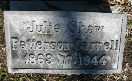 SHAW PATTERSON/CARNELL, JULIA - Montgomery County, Ohio | JULIA SHAW PATTERSON/CARNELL - Ohio Gravestone Photos