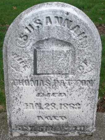PATTON, SUSANNAH - Montgomery County, Ohio | SUSANNAH PATTON - Ohio Gravestone Photos