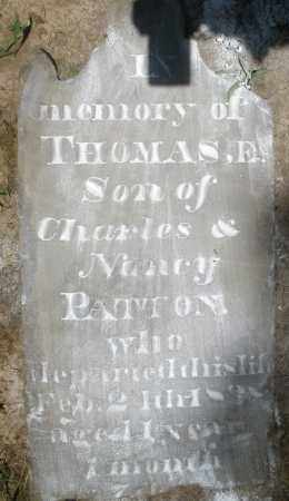 PATTON, THOMAS E. - Montgomery County, Ohio | THOMAS E. PATTON - Ohio Gravestone Photos