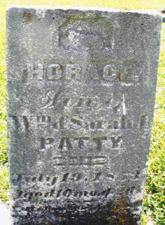 PATTY, HORACE - Montgomery County, Ohio | HORACE PATTY - Ohio Gravestone Photos