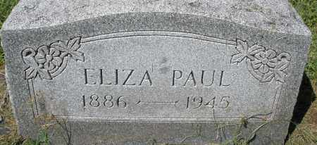 PAUL, ELIZABETH - Montgomery County, Ohio | ELIZABETH PAUL - Ohio Gravestone Photos