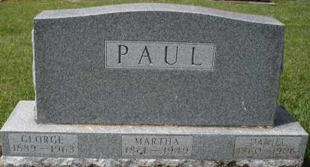 PAUL, MARTHA - Montgomery County, Ohio | MARTHA PAUL - Ohio Gravestone Photos