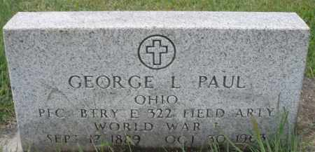 PAUL, GEORGE L. - Montgomery County, Ohio | GEORGE L. PAUL - Ohio Gravestone Photos