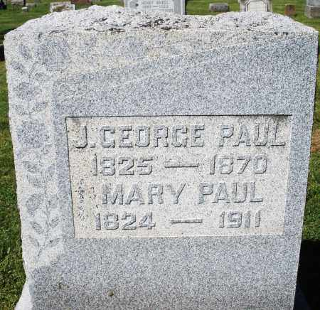 PAUL, J. GEORGE - Montgomery County, Ohio | J. GEORGE PAUL - Ohio Gravestone Photos