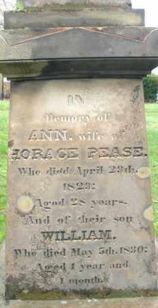 PEASE, ANN - Montgomery County, Ohio | ANN PEASE - Ohio Gravestone Photos