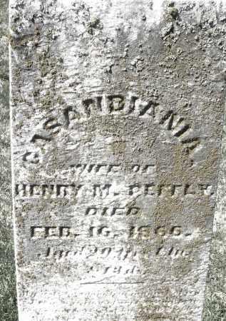 PEFFLY, CASANDIANIA - Montgomery County, Ohio | CASANDIANIA PEFFLY - Ohio Gravestone Photos