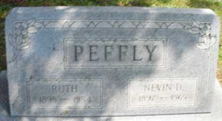 PEFFLY, NEVIN D. - Montgomery County, Ohio | NEVIN D. PEFFLY - Ohio Gravestone Photos