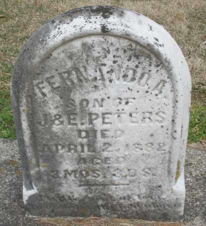 PETERS, FERNANDO A. - Montgomery County, Ohio   FERNANDO A. PETERS - Ohio Gravestone Photos