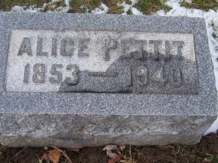 RYAN PETTIT, ALICE - Montgomery County, Ohio | ALICE RYAN PETTIT - Ohio Gravestone Photos