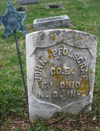 PFOLSGRAF, JOHN - Montgomery County, Ohio | JOHN PFOLSGRAF - Ohio Gravestone Photos