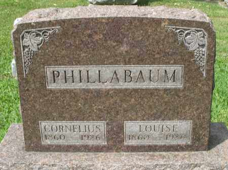 PHILLABAUM, CORNELIUS - Montgomery County, Ohio | CORNELIUS PHILLABAUM - Ohio Gravestone Photos
