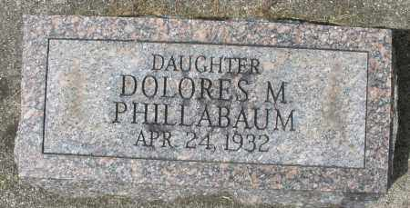 PHILLABAUM, DOLORES M. - Montgomery County, Ohio | DOLORES M. PHILLABAUM - Ohio Gravestone Photos