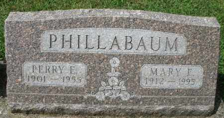 PHILLABAUM, MARY E. - Montgomery County, Ohio | MARY E. PHILLABAUM - Ohio Gravestone Photos