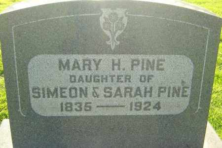 PINE, MARY H - Montgomery County, Ohio | MARY H PINE - Ohio Gravestone Photos