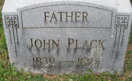 PLACK, JOHN - Montgomery County, Ohio | JOHN PLACK - Ohio Gravestone Photos