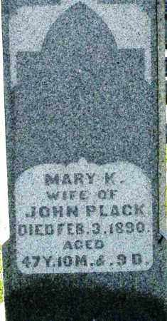 PLACK, MARY K. - Montgomery County, Ohio | MARY K. PLACK - Ohio Gravestone Photos