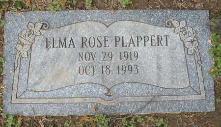 PLAPPERT, ELMA ROSE - Montgomery County, Ohio | ELMA ROSE PLAPPERT - Ohio Gravestone Photos