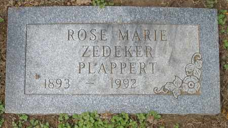 ZEDEKER PLAPPERT, ROSE MARIE - Montgomery County, Ohio | ROSE MARIE ZEDEKER PLAPPERT - Ohio Gravestone Photos