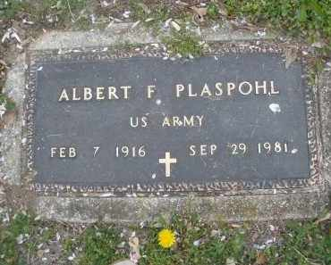 PLASPOHL, ALBERT F. - Montgomery County, Ohio | ALBERT F. PLASPOHL - Ohio Gravestone Photos