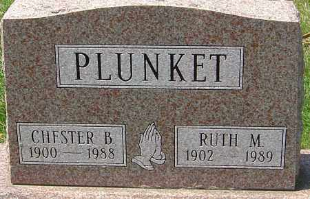 PLUNKET, CHESTER B - Montgomery County, Ohio | CHESTER B PLUNKET - Ohio Gravestone Photos