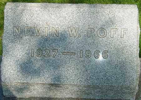 POFF, NEVIN W - Montgomery County, Ohio | NEVIN W POFF - Ohio Gravestone Photos