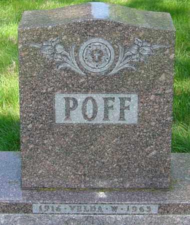 POFF, VELDA W - Montgomery County, Ohio | VELDA W POFF - Ohio Gravestone Photos