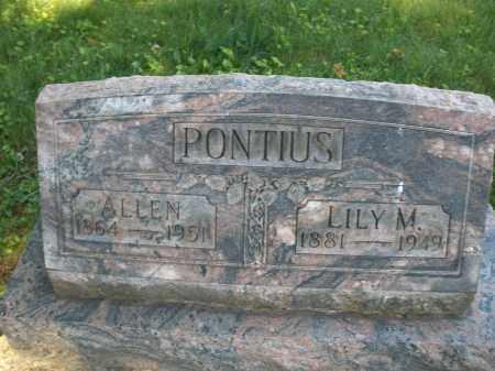 PONTIUS, ALLEN - Montgomery County, Ohio | ALLEN PONTIUS - Ohio Gravestone Photos