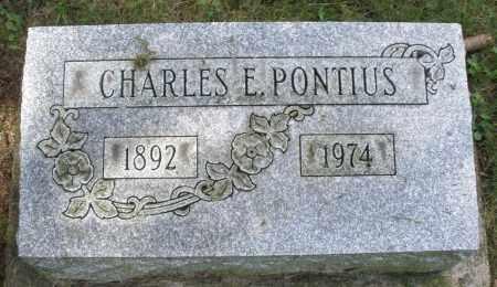 PONTIUS, CHARLES E. - Montgomery County, Ohio | CHARLES E. PONTIUS - Ohio Gravestone Photos