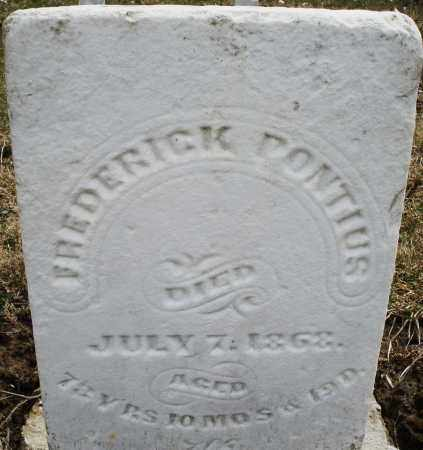 PONTIUS, FREDERICK - Montgomery County, Ohio | FREDERICK PONTIUS - Ohio Gravestone Photos
