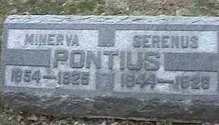 PONTIUS, MINERVA - Montgomery County, Ohio | MINERVA PONTIUS - Ohio Gravestone Photos