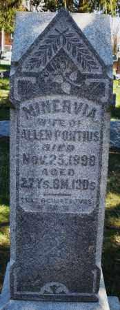 PONTIUS, MINERVIA - Montgomery County, Ohio | MINERVIA PONTIUS - Ohio Gravestone Photos
