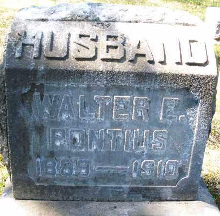 PONTIUS, WALTER E. - Montgomery County, Ohio | WALTER E. PONTIUS - Ohio Gravestone Photos