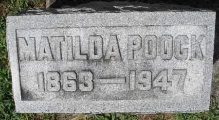 POOCK, MATILDA - Montgomery County, Ohio | MATILDA POOCK - Ohio Gravestone Photos