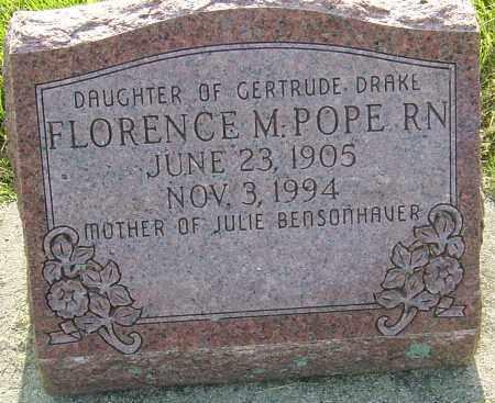 POPE, FLORENCE M - Montgomery County, Ohio | FLORENCE M POPE - Ohio Gravestone Photos