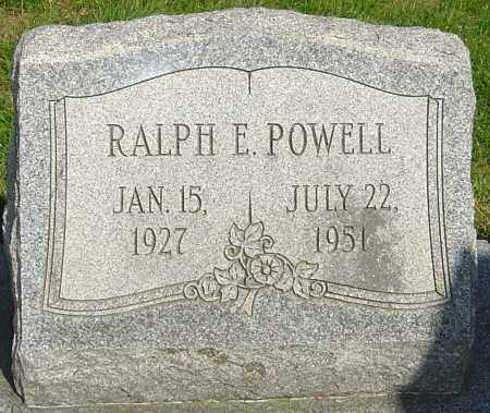 POWELL, RALPH E - Montgomery County, Ohio | RALPH E POWELL - Ohio Gravestone Photos