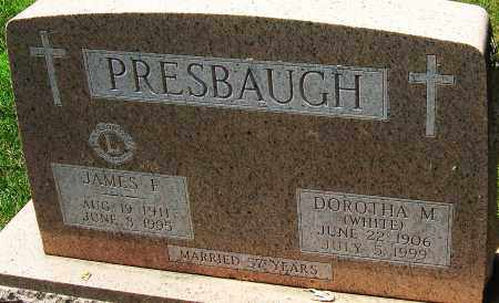 PRESBAUGH, JAMES F - Montgomery County, Ohio | JAMES F PRESBAUGH - Ohio Gravestone Photos
