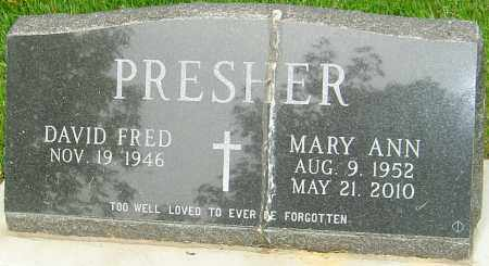 PRESJER, MARY ANN - Montgomery County, Ohio | MARY ANN PRESJER - Ohio Gravestone Photos