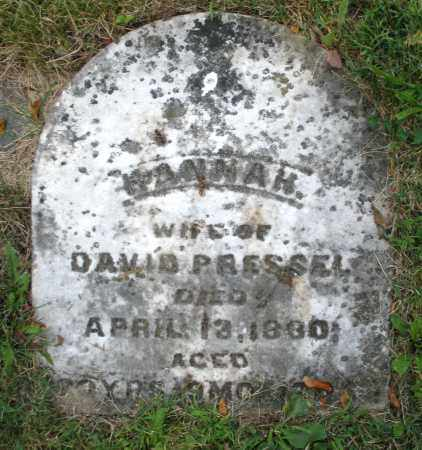 PRESSEL, HANNAH - Montgomery County, Ohio | HANNAH PRESSEL - Ohio Gravestone Photos