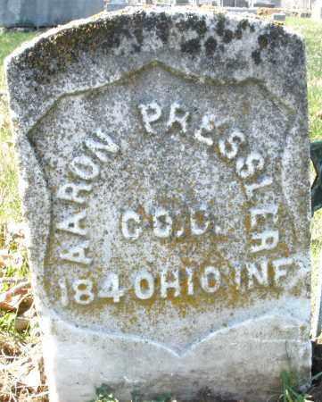 PRESSLER, AARON - Montgomery County, Ohio | AARON PRESSLER - Ohio Gravestone Photos