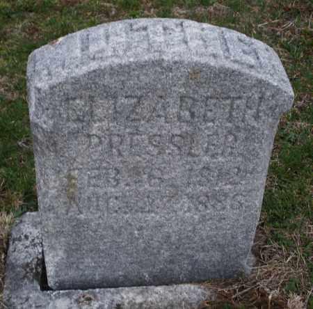 PRESSLER, ELIZABETH - Montgomery County, Ohio | ELIZABETH PRESSLER - Ohio Gravestone Photos