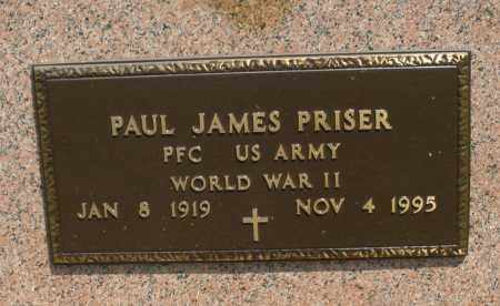 PRISER, PAUL JAMES - Montgomery County, Ohio | PAUL JAMES PRISER - Ohio Gravestone Photos
