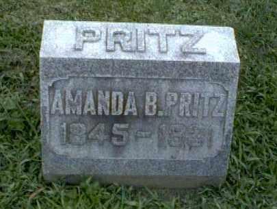 BOREN PRITZ, AMANDA - Montgomery County, Ohio | AMANDA BOREN PRITZ - Ohio Gravestone Photos