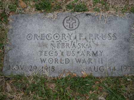 PRUSS, GREGORY F. - Montgomery County, Ohio | GREGORY F. PRUSS - Ohio Gravestone Photos
