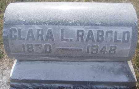 RABOLD, CLARA LAVINA - Montgomery County, Ohio | CLARA LAVINA RABOLD - Ohio Gravestone Photos