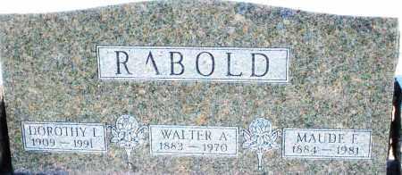 RABOLD, WALTER A. - Montgomery County, Ohio | WALTER A. RABOLD - Ohio Gravestone Photos