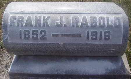 RABOLD, FRANKLIN JACOB - Montgomery County, Ohio | FRANKLIN JACOB RABOLD - Ohio Gravestone Photos