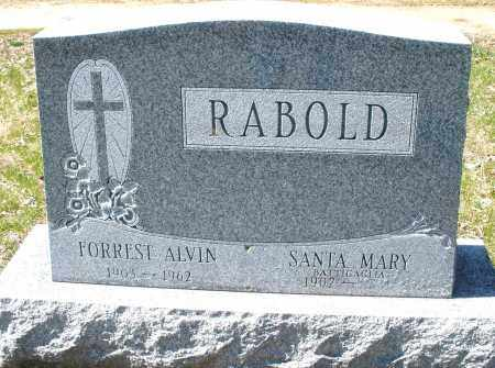 RABOLD, SANTA MARY - Montgomery County, Ohio | SANTA MARY RABOLD - Ohio Gravestone Photos