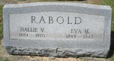 RABOLD, HALLIE V. - Montgomery County, Ohio | HALLIE V. RABOLD - Ohio Gravestone Photos
