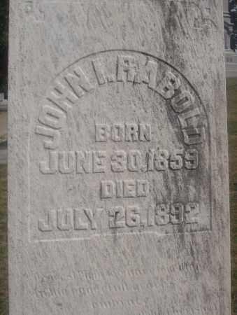 RABOLD, JOHN I. - Montgomery County, Ohio | JOHN I. RABOLD - Ohio Gravestone Photos